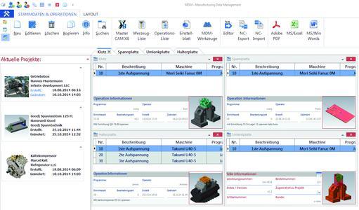 Screenshot: Benutzeroberfläche mdm