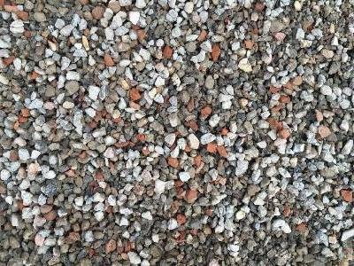Gesteinskörnung für die Betonproduktion aus rezyklierten Bauabfällen (Foto: TU Kaiserslautern)