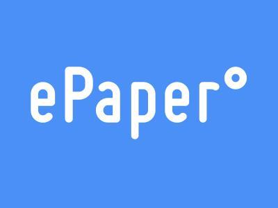 ePaper Logo weiß auf blau