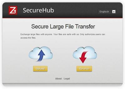 Zertificon's Z1 SecureHub enables secure large file transfer