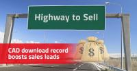 "Download record: ""Highway to Sell"" for component manufacturers with over 56 million CAD downloads (= sales leads) in June"