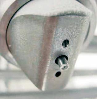 Schlick Düsen-Technologie: Das PCA-Manifold mit 16 parallel aufgestellten Düsen sorgt für eine homogene Beschichtung