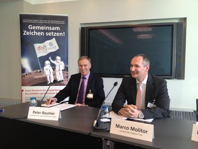 Peter Baumer und  Marco Molitor Pressegespraech