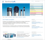 Relaunch der BerlinerLuft. Homepage