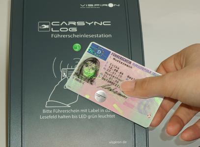 VISPIRON CARSYNC: elektronische Führerscheinkontrolle an Lesestationen