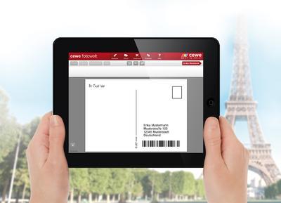 Urlaubsgrüße in Form einer Postkarte direkt vom mobilen Endgerät aus verschicken - die CEWE FOTOWELT App macht es möglich