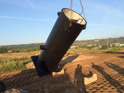 Angekommen - Pumpstation im Neubaugebiet Oppenheim. Bilder: Jung Pumpen GmbH