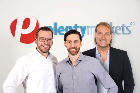 Jan Griesel (CEO, plentysystems), (Bernhard Weiß CBDO, plentysystems), Uwe Bergmann (CEO, COSMO CONSULT)