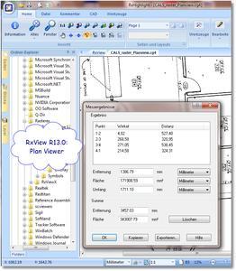 RxView zeigt Messergebnisse des PlanViewers