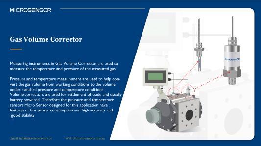 I2C Drucksensor und Temperaturtransmitter bei einem Mengenumwerter