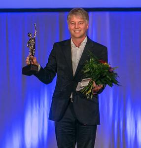 Dipl.-Phys. Kai Reinhard, CEO von Micromata, bei der Preisverleihung