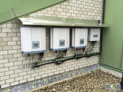 Delta RPI solar inverters in Middelkerke - outdoor installation