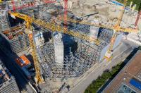 Abb. 3: Der Verbundbau kombiniert ein Stahlskelett mit Holorib-Verbunddecken. (Foto: HRS Real Estate SA)