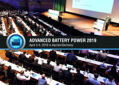 "11th International Symposium: ""Advanced Battery Power - Kraftwerk Batterie"""