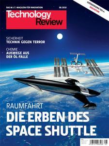 Das Titelbild der aktuellen Technology Review Ausgabe 8/2010