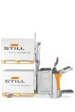 Auch schwere Lasten können mit dem EXD-SF 20 spielerisch leicht transportiert werden dank der Doppelstock-Tragfähigkeit von bis zu 2.000 kg mit und elektrischer Lenkung, Fotos: STILL GmbH