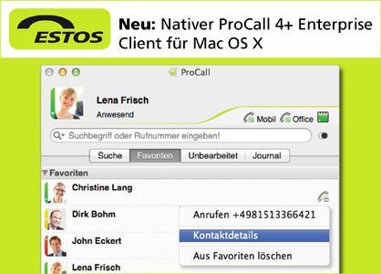 Der neue, native ProCall 4+ Enterprise Client für Mac OS X
