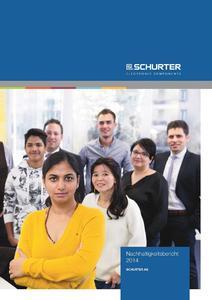 SCHURTER Nachhaltigkeitsbericht 2014