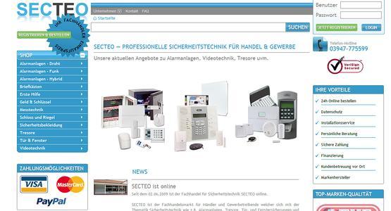 Screenshot der Onlinepräsenz