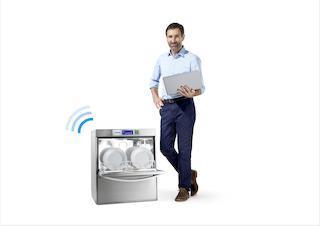 Mittels Computer, Tablet oder Smartphone haben Winterhalter Kunden Zugriff auf die CONNECTED WASH App / Bild: Winterhalter Gastronom GmbH