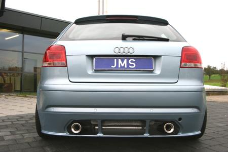 The pure Racelook - JMS shows new bodykit for the AUDI A3 8P Facelift Exclusive Corniche chrome rims for shiny impressions