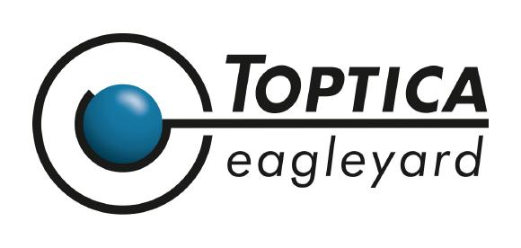 TOPTICA eagleyard will now operate under a similar logo as TOPTICA Photonics and keeps its core blue color in the recognizable center ball (instead of red).