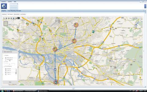 Wichtig bei der Tourenplanung: Übersichtliche Visualisierung, © Implico