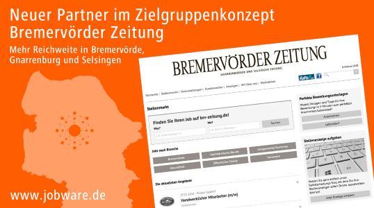 Jobware und Bremervörder Zeitung kooperieren im Stellenmarkt