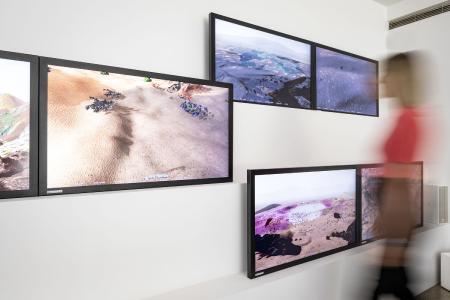 "Distec sponsert Alexandra Daisy Ginsbergs ""The Wilding of Mars"" mit POS-Line VideoPoster-Monitore, Bildquelle/Copyright: Vitra Design Museum, Bettina Matthiesen"