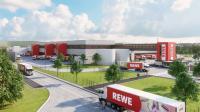 Ansicht des neu entstehenden REWE-Frischezentrums in Dortmund. Quelle: REWE