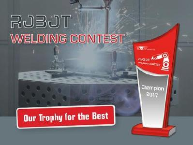 The contestants ranked in the first places in the ROBOT WELDING CONTEST will also receive, amongst other prizes, trophies with their names and the names of the manufacturers with whose robots they have carried out the welding / Source: DVS