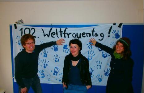 von links nach rechts: Fabian de Planque, Hannah Obert,  Karoline Staude