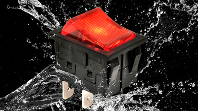 IP66 Rated Fully Illuminated Rocker Switch