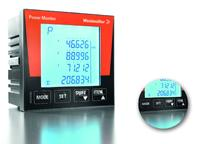 Weidmüller POWER MONITOR: measure and record the electrical characteristics of machines and systems. The device records even tiny amounts of power, such as for devices in stand-by mode. Detail: The large keys enable secure navigation of the menu