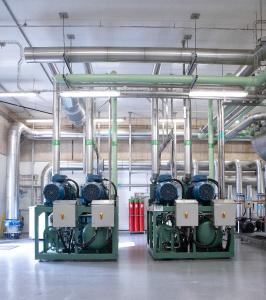 ICS installed two BITZER ACPs for the production of ice water at one of Denmark's largest food-processing companies / Photo: BITZER