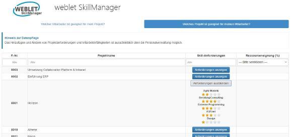weblet SkillManager