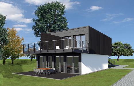 Das Industriebauunternehmen CHRISTMANN + PFEIFER baut nun auch schlüsselfertige Modulgebäude zum Wohnen und Arbeiten. Ein Modulgebäude besteht aus zwei oder mehr einzelnen Modulen, die in der firmeneigenen Produktion komplett vorgefertigt werden. (Foto: C + P)