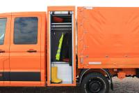 Werkzeug- und Gerätekasten, der einen beheizbaren Kleiderschrank beinhaltet