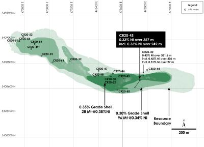Infill Drilling Continues to Highlight Potential of Higher-Grade Core at Canada Nickel's Crawford Nickel-Cobalt-Palladium Project