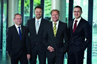 KNAPP AG management team with Eduard Wünscher