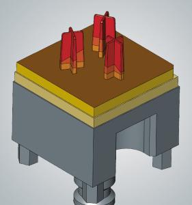 hyperCAD®-S Electrode: die kreisförmige Anordnung von mehreren Elektrodengeometrien sorgt für Zeiteinsparungen beim Fräsen und Erodieren, Bildquelle: OPEN MIND