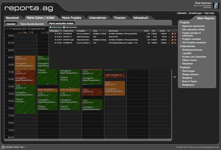 Reporta-Nutzer können Projekten nun neben Zeiten auch Artikel und Pauschalleistungen zuordnen (Quelle: Reporta)