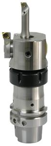 New: The Vario Head universal boring head from Swiss Tool Systems. Shown here with ER interface, compatible with ER collet chuck.