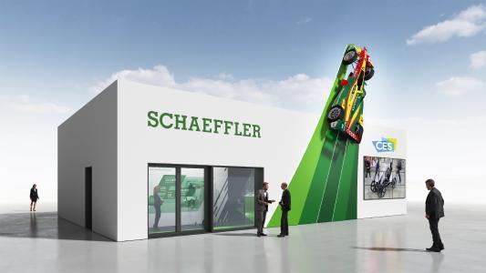 Mobilität für morgen: Schaeffler präsentiert sich mit seinem Messestand auf der CES in Las Vegas (Tech East, LVCC, Central Plaza, Stand CP-34)