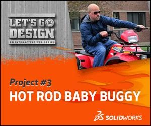 Project 3 Hot Rod Baby Buggy Lets Go Design SolidWorks