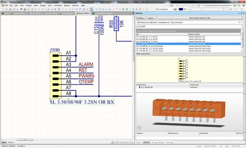 Weidmüller OMNIMATE service: Thanks to the component libraries created specifically for PCB terminals and plug-in connectors of the OMNIMATE product series, users can design PCBs quickly and professionally