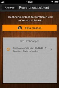 verivox iphone app analyse rechnungsassistent