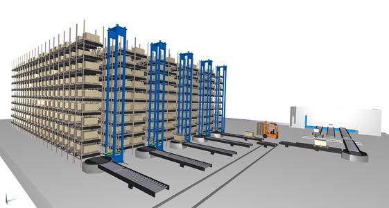 Lino® 3D layout und industrialPhysics ermöglichen 3D-Aufstellplanung mit integrierter  3D-Simulation in Echtzeit zur virtuellen Inbetriebnahme von Industrie- und Maschinenanlagen
