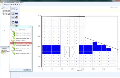Figure 1: With Polysun 6 PV Rooftop Planner, the string allocation is optimized based on roof geometry and inverter allocation.