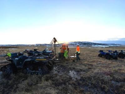 Mobiler Schneckenbohrer auf dem Cape Ray-Projekt / Foto: Matador Mining